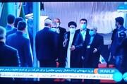 ابراهیم رئیسی برای مراسم تحلیف به مجلس آمد /قالیباف به استقبال رفت +عکس