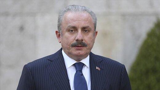 ورود رییس مجلس ملی کبیر ترکیه به تهران