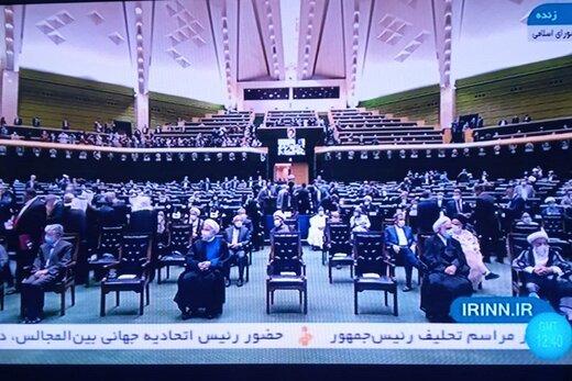 خوش و بش مقامات کشورهای خارجی با حسن روحانی /آیت الله جنتی و محسنی اژه ای همنشین هم شدند /حدادعادل در ردیف اول نشست