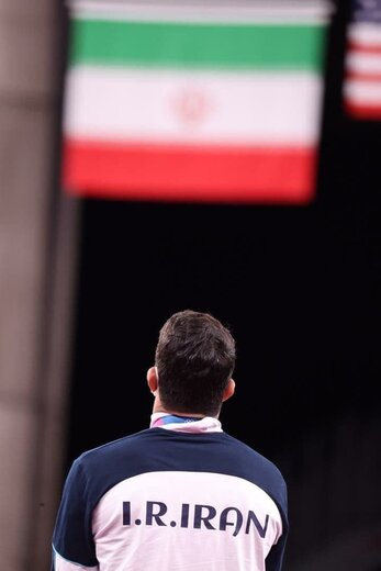 اخم حسن یزدانی روی سکو نایب قهرمانی المپیک