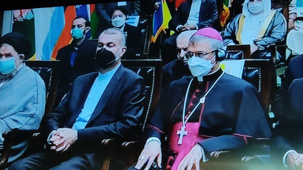 حضور گزینه ابراهیم رئیسی برای وزارت امور خارجه در مراسم تحلیف +عکس