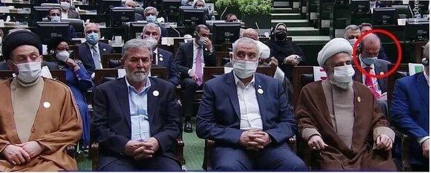 عکسی از گزینه معاون اولی رئییس در صف اول مراسم تحلیف /نماینده اروپا پشت اسماعیل هنیه نشست