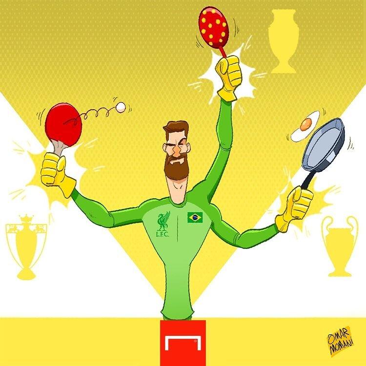باشگاه لیورپول قرارداد آلیسون بکر، سنگربان برزیلی خود را تا سال 2027 تمدید کرد. سایت گل با انتشار کارتونی از عمر مومانی به این موضوع پرداخت.
