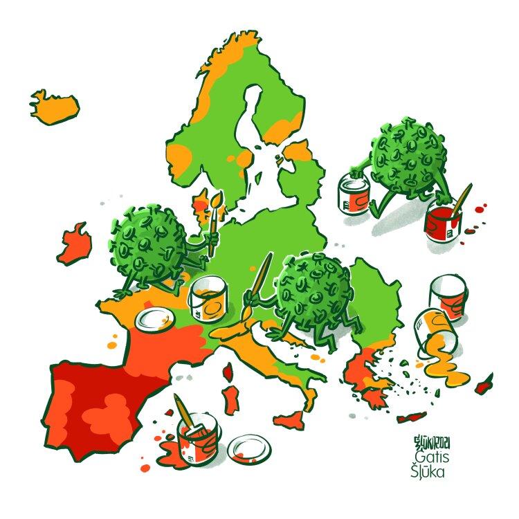 هنرنمایی کرونا در اروپا را ببینید!