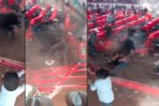 ببینید | لحظه تکان دهنده فرار گاو وحشی و حمله به تماشاچیان در مسابقه غیرقانونی