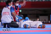 تصاویر | لحظه اصابت ضربه سنگین به گنجزاده و بیهوشی کاراتهکار ایرانی در فینال