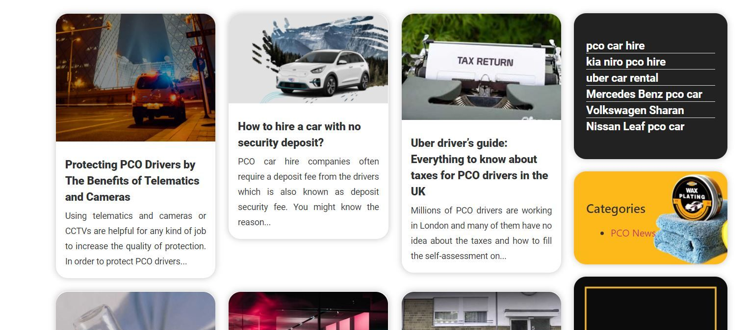 What is PCO car hire?