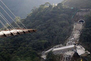 ببینید | نجات معجزهآسای یک تریلی از ریزش پل در شیلی