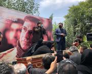 سخنان احساسی دختر علی سلیمانی در مراسم خاکسپاری پدرش