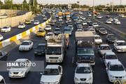 معابر پرترافیک تهران در اولین روز هفته