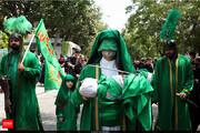 تصاویر   مراسم عزاداری ظهر تاسوعا حسینی (ع) در بازار تهران