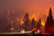 ببینید | آتشسوزی جنگلی عظیم در شمال کالیفرنیا