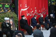 فرمانده کل سپاه و رئیس جمهور در مراسم عزاداری نهاد ریاست جمهوری