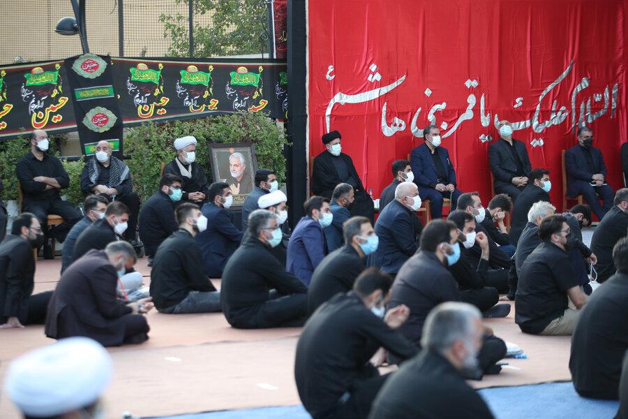 محسن رضایی، سردار سلامی و ابراهیم رئیسی کجا عزاداری کردند؟ +عکس
