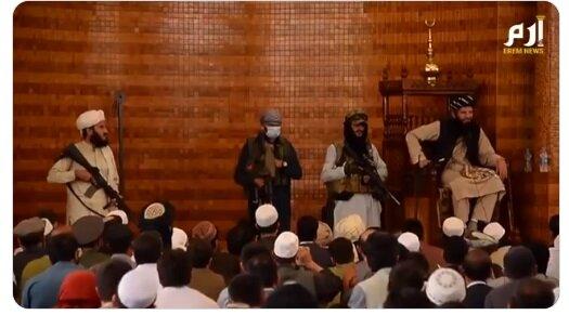 طالبان اولین نماز جمعه افغانستان را برگزار کرد/عکس