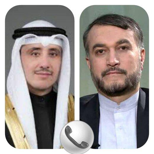 تبریک وزیر خارجه کویت به امیرعبداللهیان