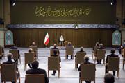 تصویری از وزیر دولت روحانی در دیدار دولت رئیسی با رهبر انقلاب