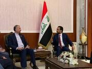 امیرعبداللهیان پیام قالیباف را به رئیس مجلس عراق رساند