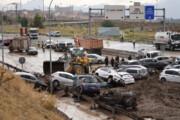 ببینید | تصاویری از سیلاب در اسپانیا و درهم پیچیدن خودروها