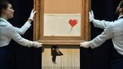 سود حیرتانگیز فروش نقاشی پاره بنکسی/ وقتی اثر یک میلیونی، ۱۸ میلیون پوند فروخته شد