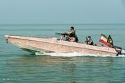 ببینید | تعقب و گریز قایقهای تندرو آمریکایی توسط نیروی دریایی سپاه پاسداران