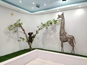 نخستین باغ وحش فلزی ایران در شهرضا افتتاح شد