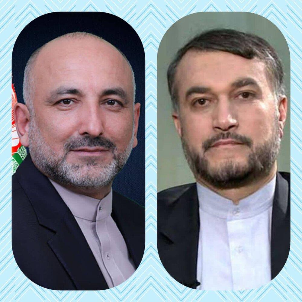 پیام وزیرخارجه افغانستان به امیرعبداللهیان