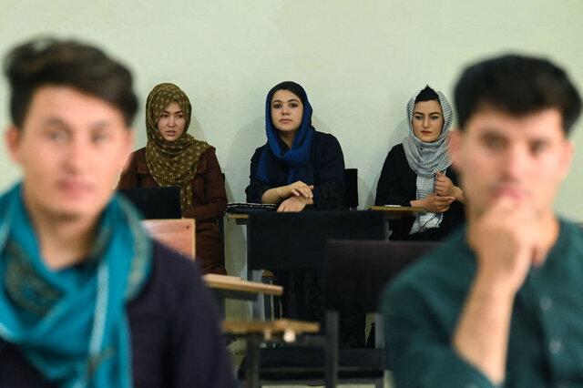 جداسازی دخترها و پسرها در دانشگاههای افغانستان/عکس