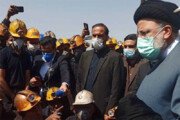 ببینید | درددل کارگران معدن زغال سنگ طبس در حضور رئیس جمهور