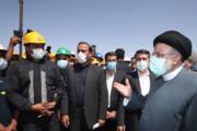 تصاویر   بازدید رئیس جمهور از معدن زغال سنگ پروده طبس