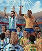ببینید مسی از اسطوره فوتبال برزیل عبور کرد!