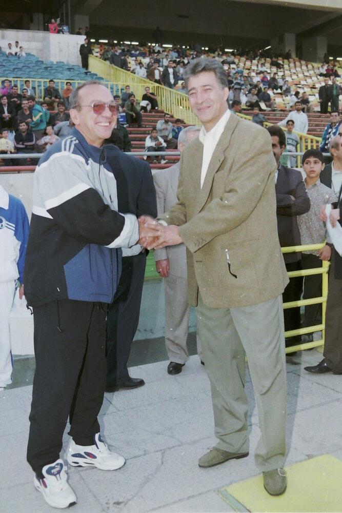 ناصرخان در کنار مردی که منجی ایران شد/عکس