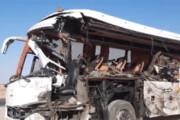 ببینید | 31 کشته و مصدوم در برخورد اتوبوس با تریلی در طبس