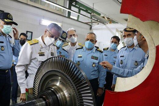 بازدید دریادار سیاری از مراکز باز آماد نیروی هوایی ارتش