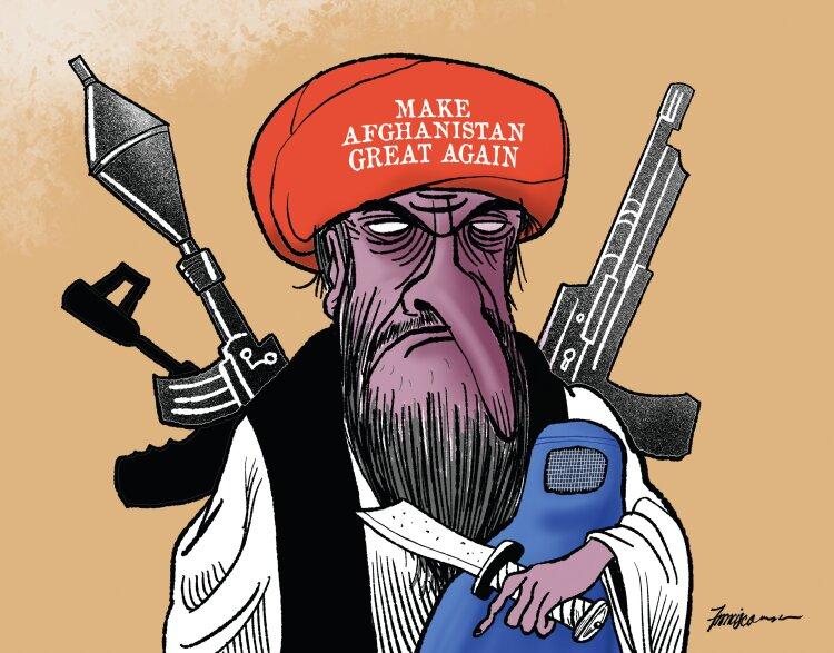 ببینید: شباهت عجیب طالبان و ترامپ!