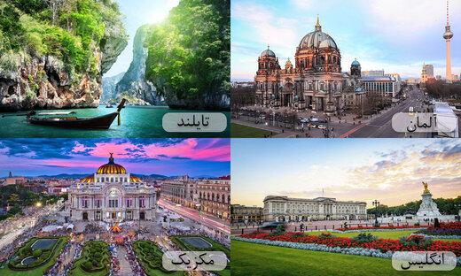 ده کشور پر بازدید جهان
