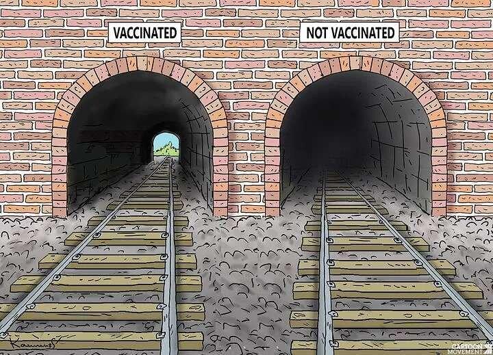 انتهای تونل واکسیناسیون را ببینید!
