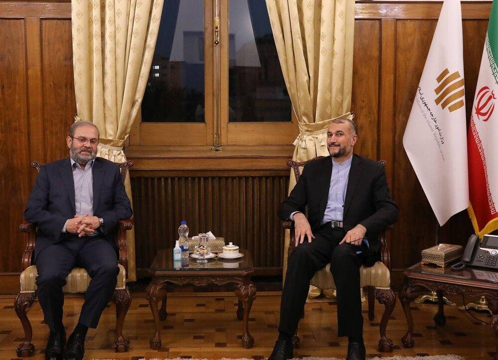 امیرعبداللهیان در دیدار با نماینده حزبالله تأکید کرد: حمایت دولت سیزدهم از گروههای مقاومت