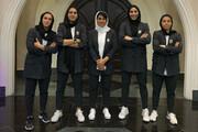 تصاویر | تیپ رسمی دختران فوتبال ایران با کت و شلوار برای عزام به انتخابی آسیا