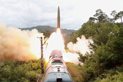 ببینید | شلیک موشکهای کره شمالی از روی ریل قطار