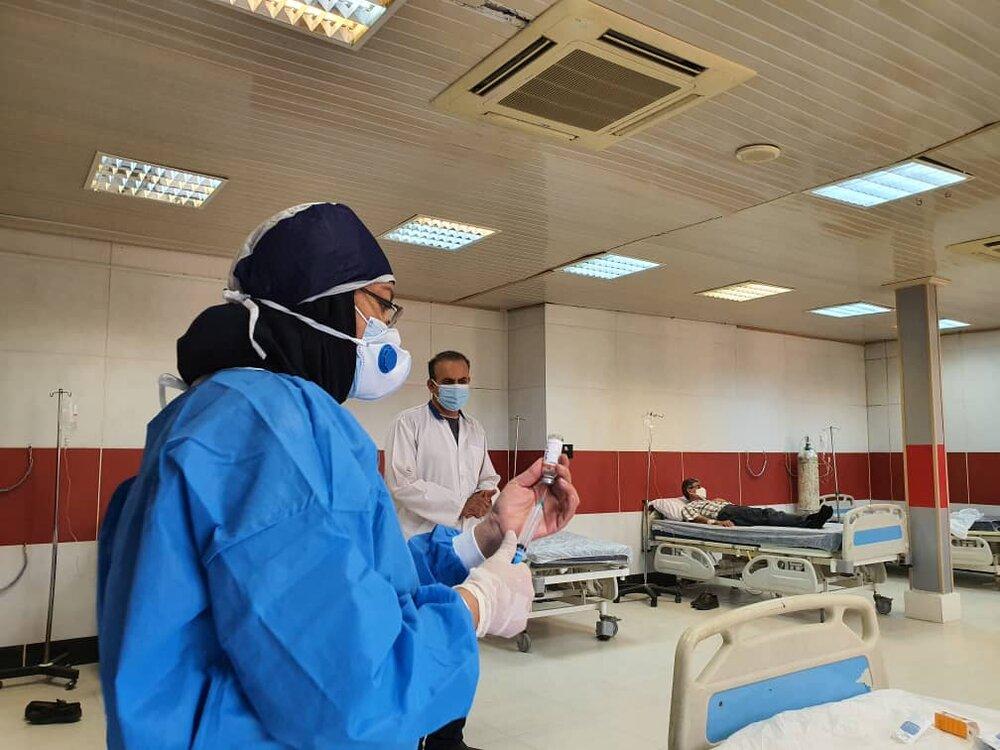 خدمات بیمارستان نفت آبادان به بیماران کرونایی