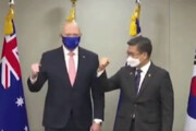 ببینید | روش عجیب دست دادن رئیس جمهور استرالیا و کره