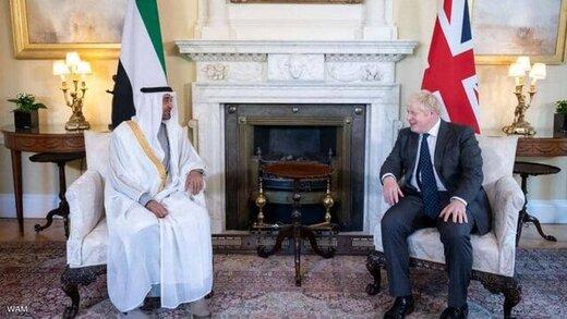 دیدار ولیعهد ابوظبی با بوریس جانسون/ تأکید بر روابط استراتژیک بین امارات و انگلیس