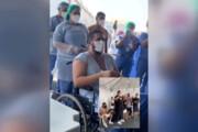 ببینید | حرکت زیبا و دیدنی یک گروه موسیقی برای یک بیمار کرونایی