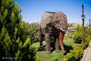 تصاویر | قابهایی تماشایی و دیدنی از باغ موزه فلزی ایران