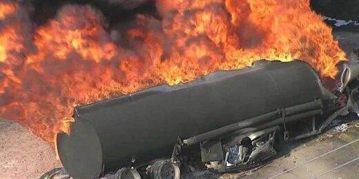 ببینید   لحظه انفجار مهیب تانکر سوخت در شهر الیگودرز