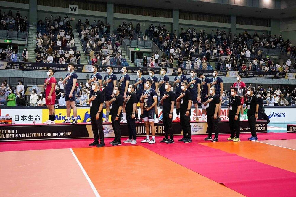 پسران والیبال ایران بربام آسیا/عکس