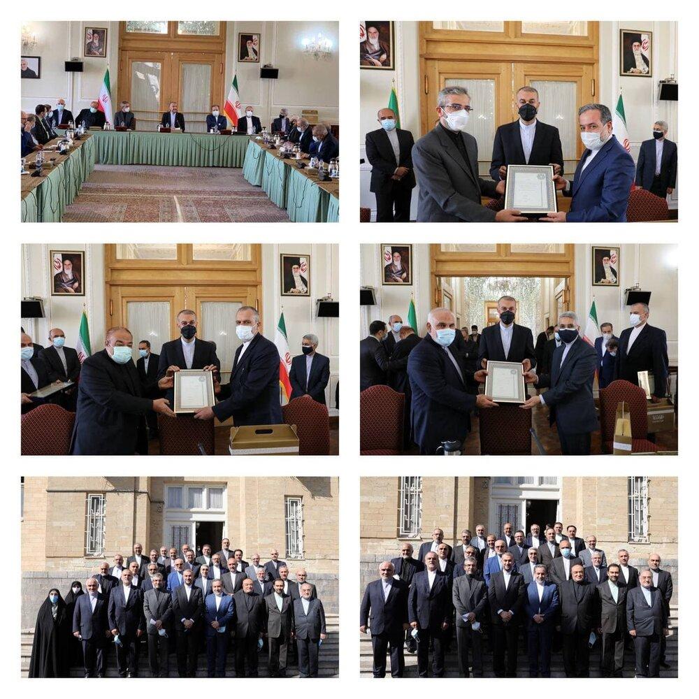 مراسم تکریم و معارفه معاونان قدیم و جدید وزارت خارجه/عکس