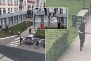 ببینید | لحظه دلهرهآور فرار دانشجویان از حمله مسلحانه و مرگبار به دانشگاه «پرم» روسیه