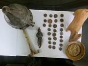 کشف ۲۸ عدد سکه قدیمی مربوط به دوران اشکانی و الیمایید در عملیات پلیس شازند